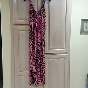 Hot CABI multi-print maxi dress